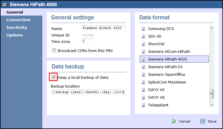 how to change the tcp port of aastra in gui
