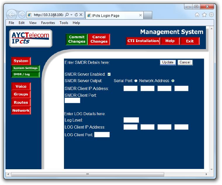 AYCTelecom IPcts - TIM Enterprise - Documentation